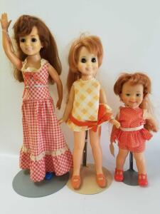 Ideal dolls- Crissy, Cricket, and 1971 Cinnamon