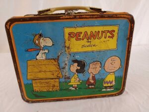 1950, 1954, 1959 Peanuts by Schultz Metal Lunchbox Without Thermos