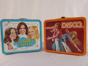 1978 Metal Charlies Angels (Broken Latch) and Disco Lunchboxes, No Thermoses