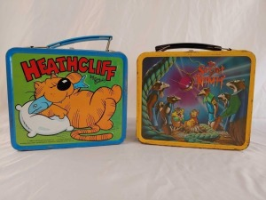 1982 Heathcliff and Secret of Nihm Metal Lunchboxes, No Thermos