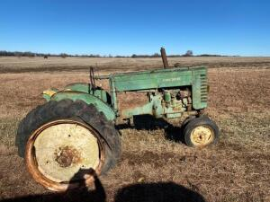 "JD ""MT"", narrow front, 2 pt hitch, Ser #28696, year unknown, does not run"