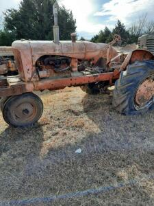"AC ""WD"" gas tractor, narrow front, year & serial number unknown, does not run"