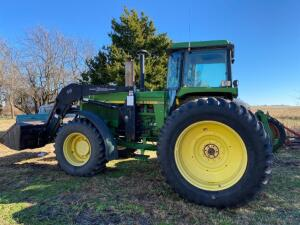 1990 JD 4555 diesel tractor, FWA power shift, 3pt, 3 sets remote hydraulic outlets