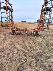 AC 30' field cultivator, Model 1300, Noble harrow