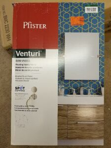 Venturi 19 in. X 26 in. Frameless Pivoting Single Wall Mirror in Spot Defense Brushed Nickel  by Pfister