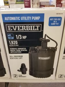 1/3 HP Automatic Utility Pump  by Everbilt