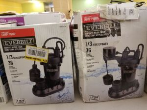 2 1/3 HP Submersible Aluminum Sump Pump with Tethered Switch  by Everbilt
