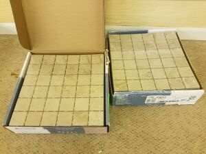 2 boxes Slip-Resistant Ceramic Mosaic floor/Wall Tile in Limestone 10 pc/box 12in x 12in