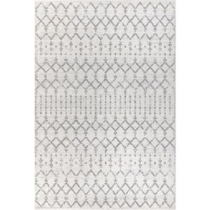 Moroccan Hype Boho Vintage Diamond Cream/Gray 8 ft. x 10 ft. Area Rug  by JONATHAN Y