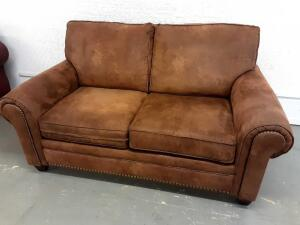 Brown Loveseat 68in x 38in