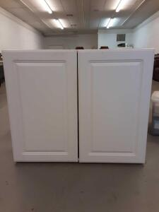 White Wall Cabinet with shelves 36in x 30.5in x 12.5in