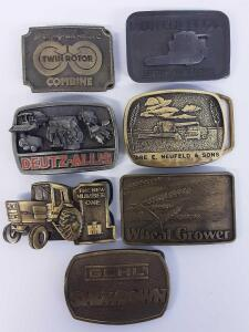 Belt Buckles- IH, Deutz-Allis, Neufeld and sons, Neufeld Bros, Gehl Showdown, Sperry New Holland