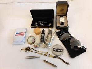 Oakley Aviator sunglasses, Watch, Jewelry, Nail kit, touch up paint
