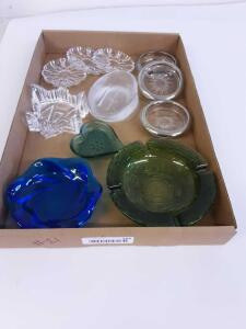 Glass Coasters, Ash Trays and Soap Dish