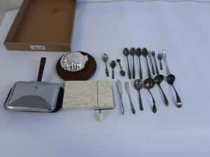 Crumb Catchers, Cheese Cutter and Silverware