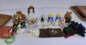 Angel Figurines and Christmas Items
