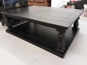 Black Wooden Coffee Table 54in x 40in
