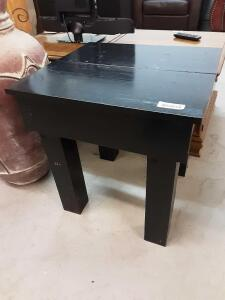 black wood table 22.25in x 23.75in